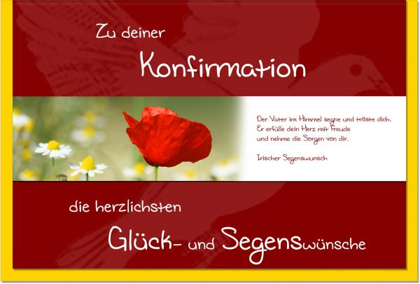 metALUm Karte zur Konfirmation MOHN | 1012040S